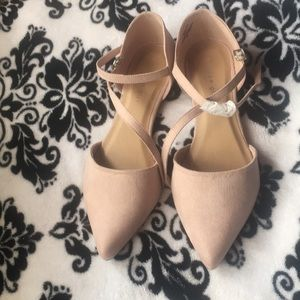 Blush - Madden Girl pointed toe flats - Size 9